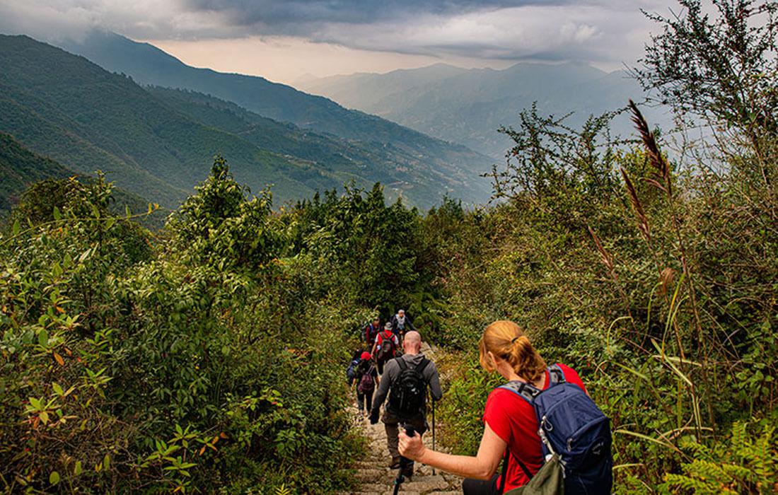 Kathmandu short trek route