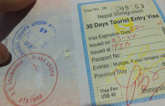 Travel in Nepal - Visa
