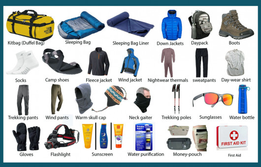 Packing list for Trekking in Bhutan
