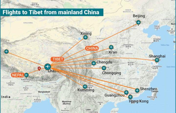 Flight-to-Tibet-from-Mainland-China