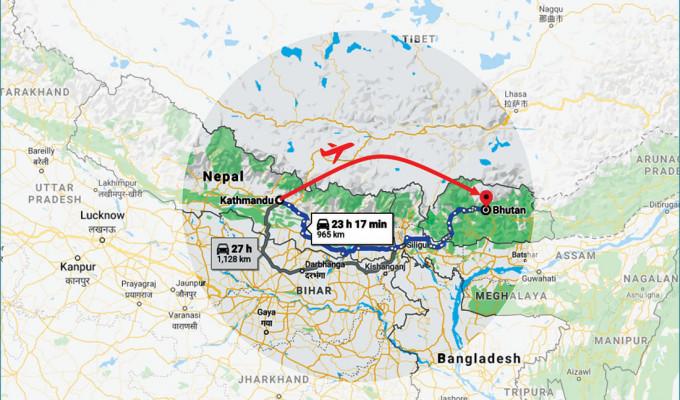 Bhutan from Nepal