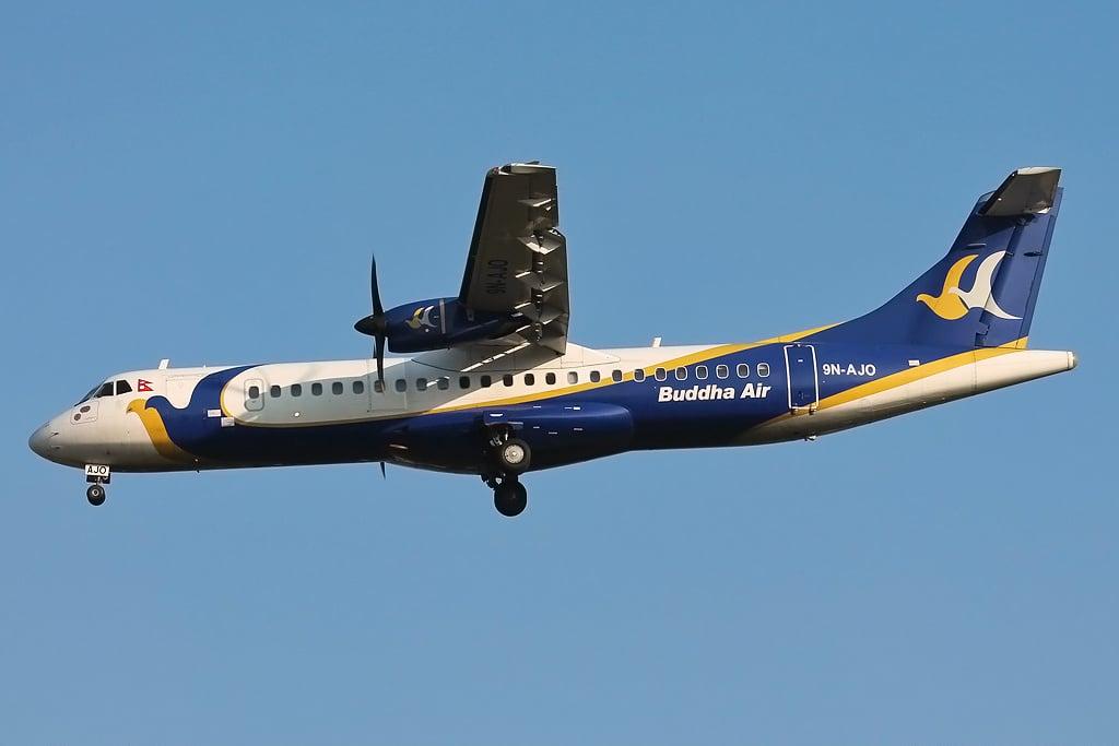Buddha_Air_ATR_72-500_on_finals_into_Tribhuvan_International