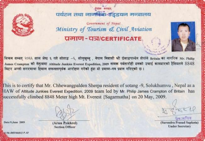 Chhewang-Certificate-2