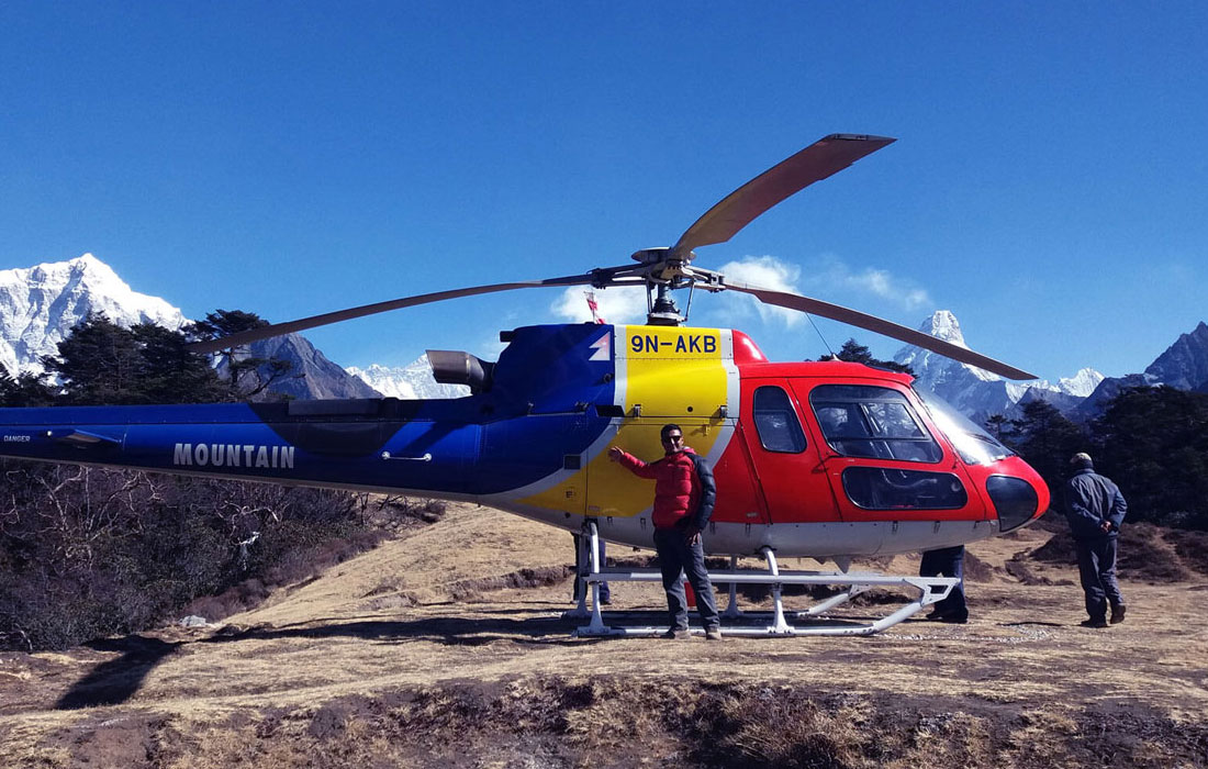 Everest Base Camp Trek with luxury lodge accommodation and private helicopter charters