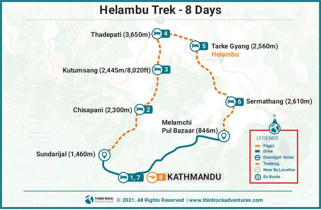 Helambu Trek Route Map