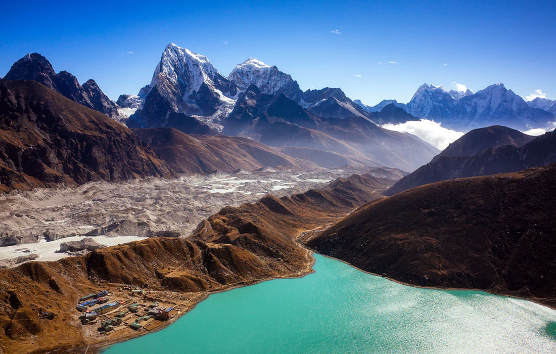 Cross Renjo La, the easiest of the 3 High Passes offering the best view of Mount Everest