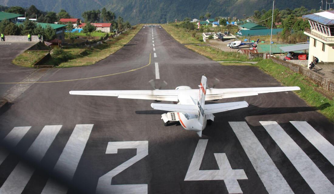 Flight from Lukla to Kathmandu