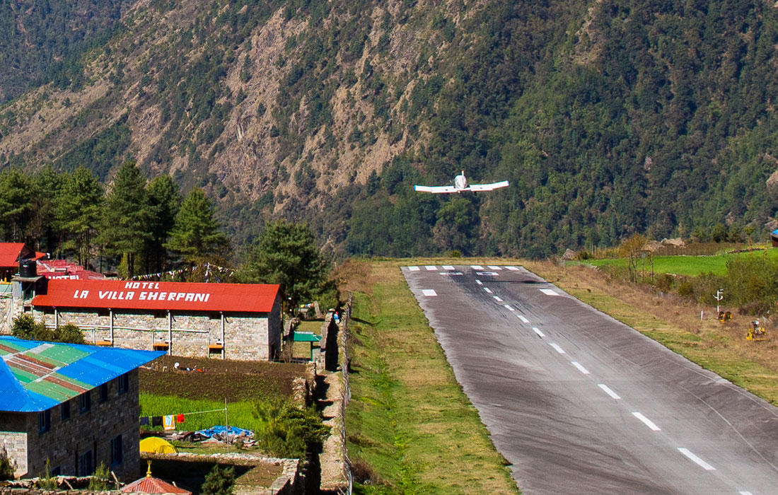 Departure from Lukla Airport