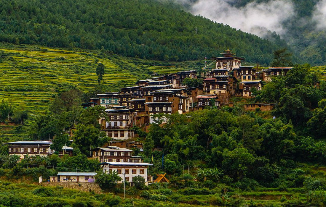 Traditional Village in Punakha