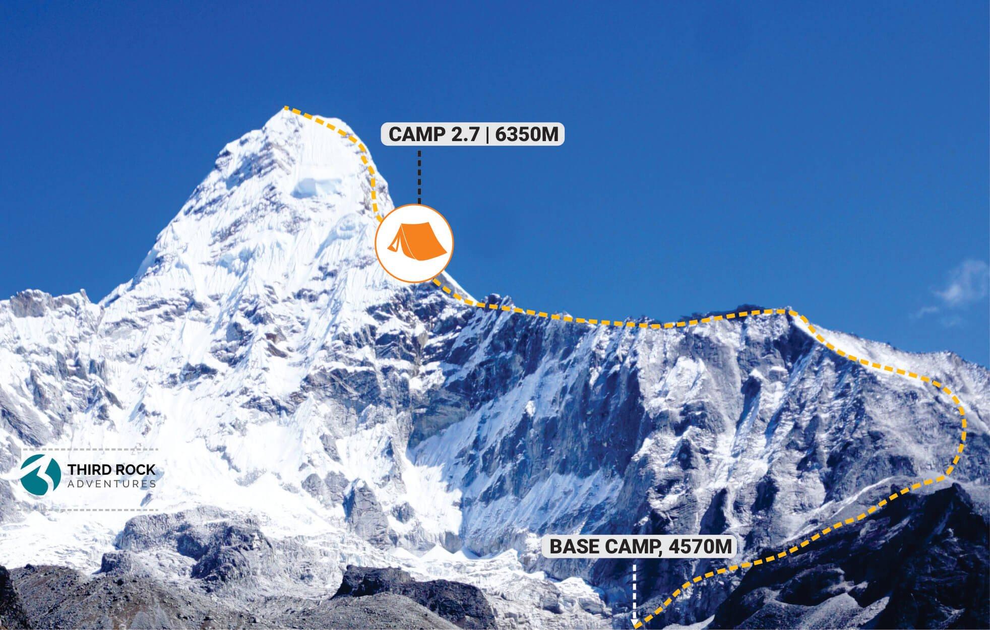 Ama Dablam Climb - Camp 2.7