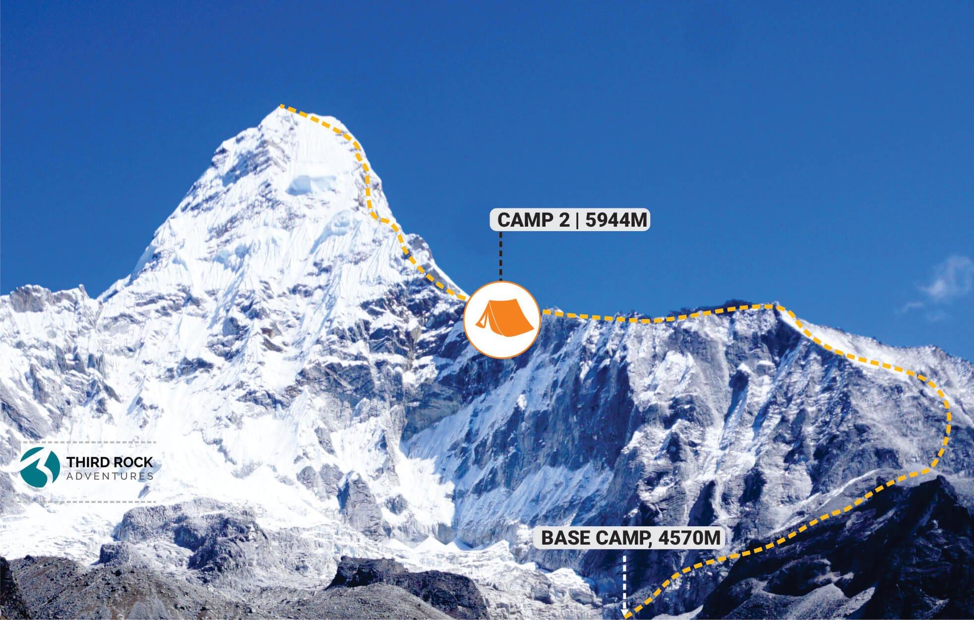 Ama Dablam Climb - Camp 2