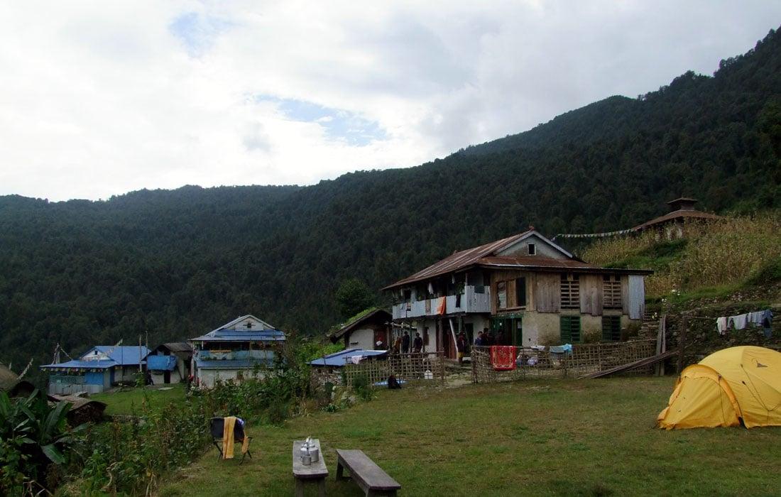 Campsite at Tashigaon