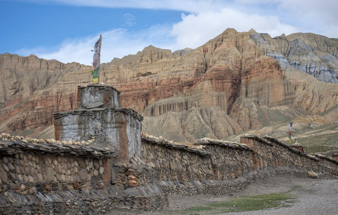 Mani wall near Ghami