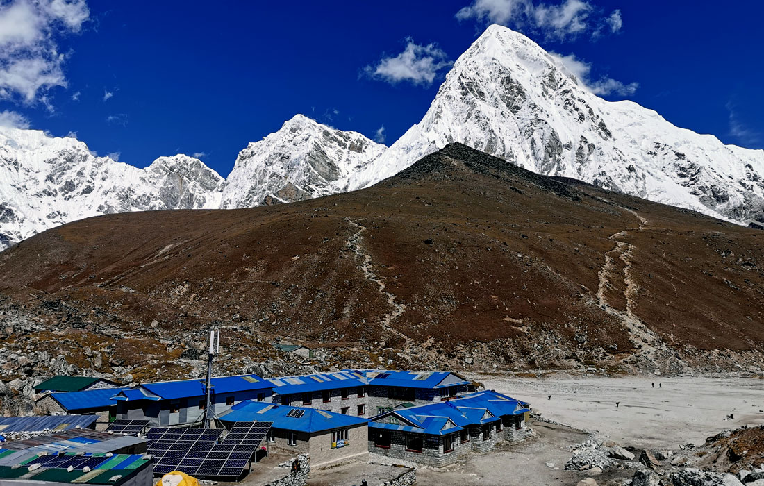 Gorek Shep -  last stop on the trek to Everest Base Camp before trekkers reach their goal