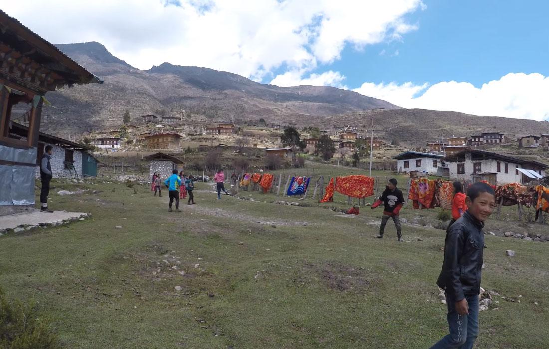 Laya village bhutan