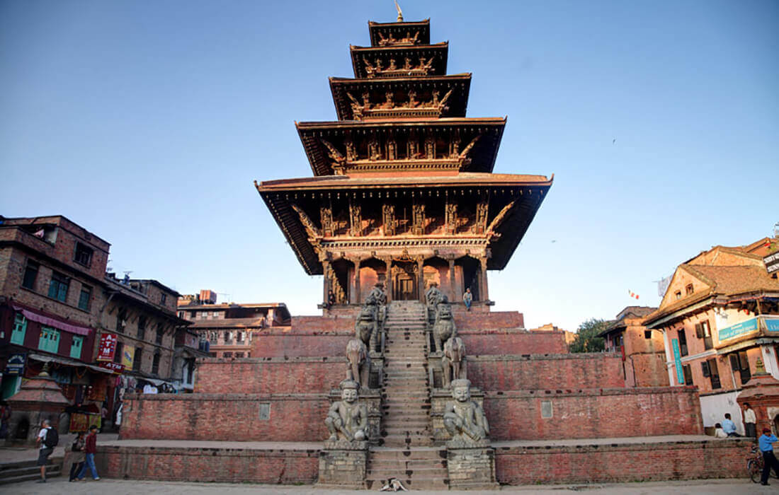 Nyatapola temple in Bhaktapur - tallest temple in Nepal