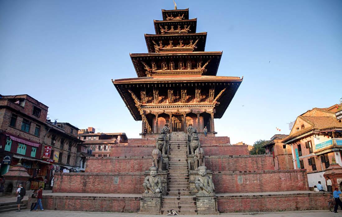 Nyatapola temple in Bhaktapur - tallest temple in Nepal