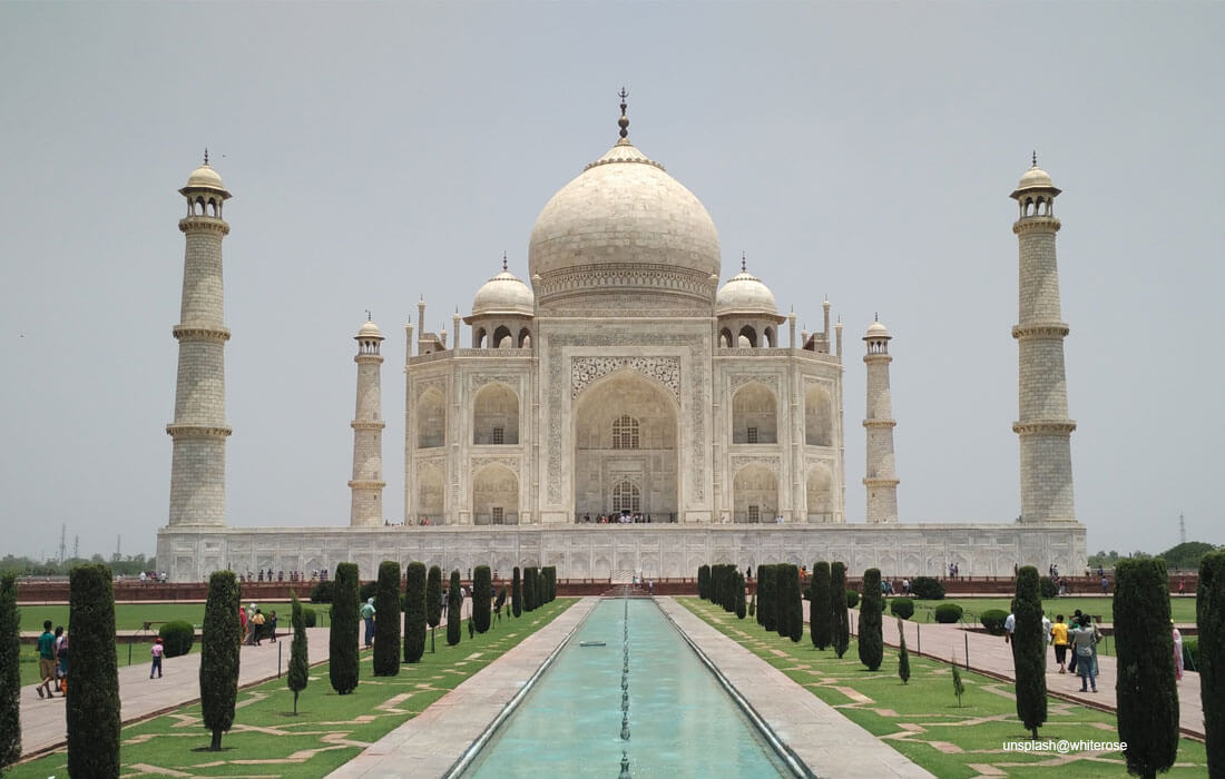 Taj Mahal - the jewel of Muslim art in India also called Mumtaz Mahal