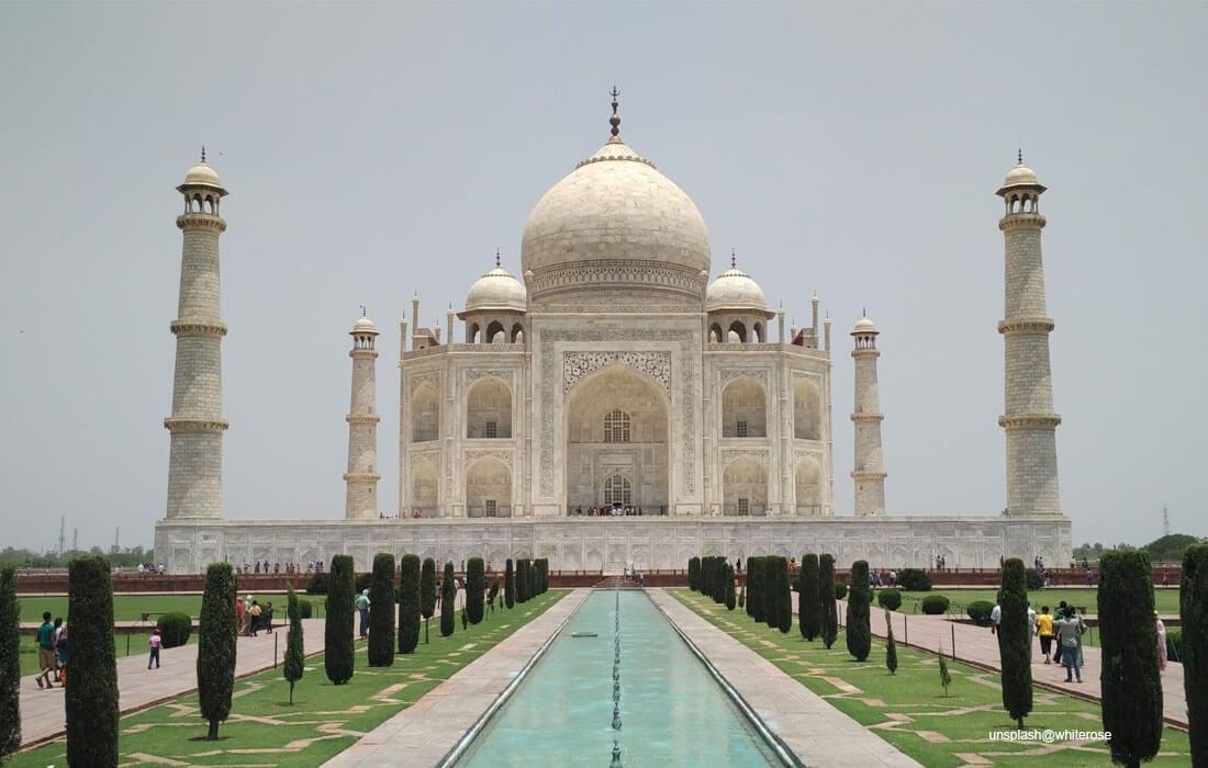 Taj Mahal - the jewel of Muslim art in India also called Mumtaz Mahal