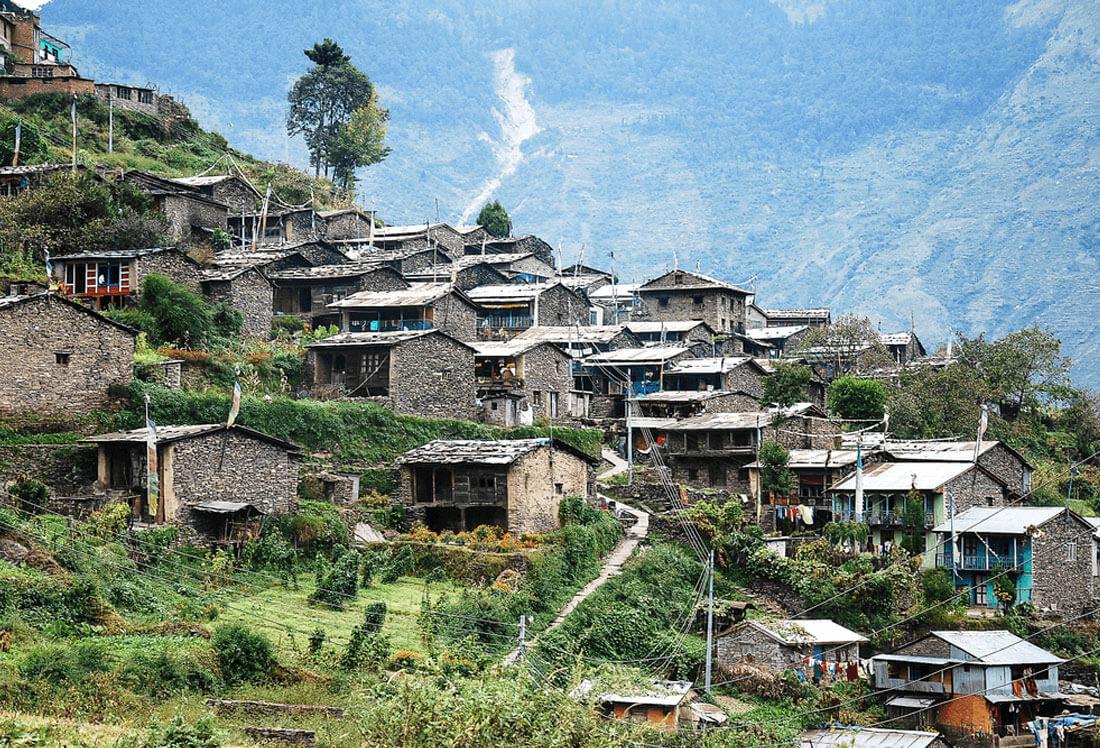 Tamang village of Briddim