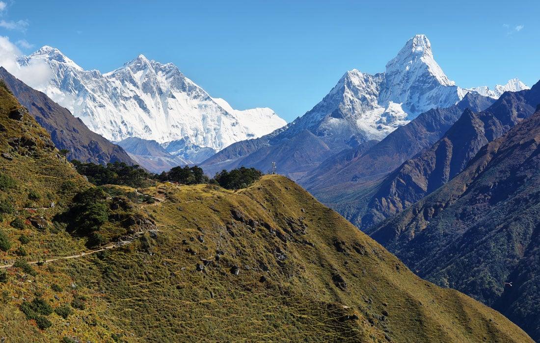 Mount Everest and Ama Dablam