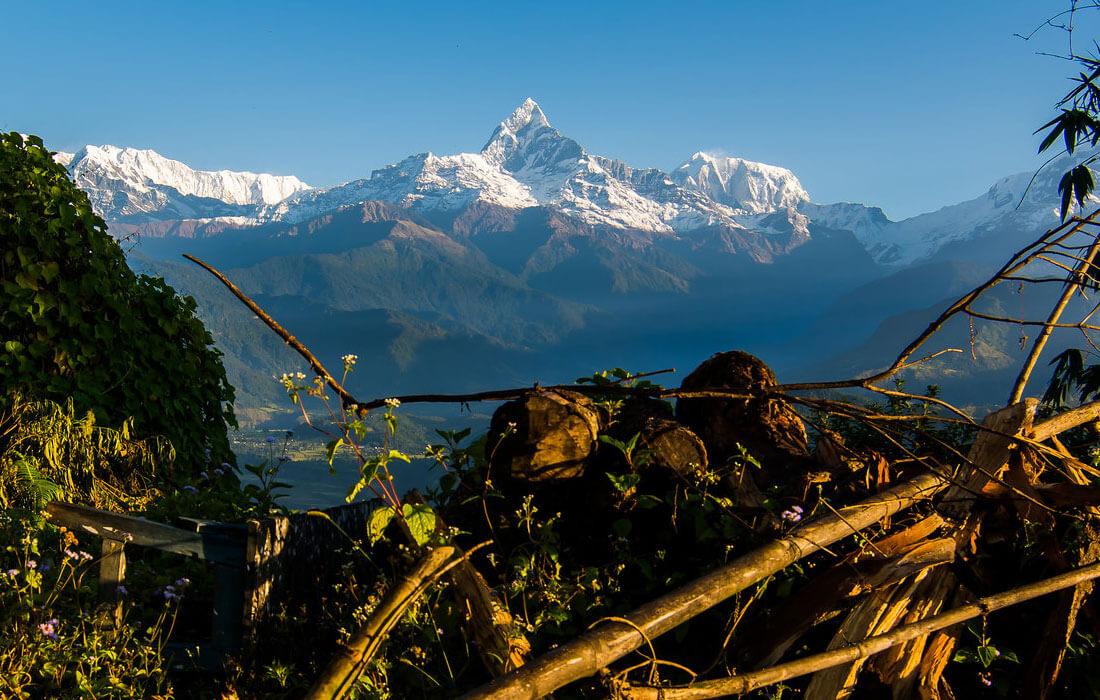 View of Fishtail Mountain from Sarangkot