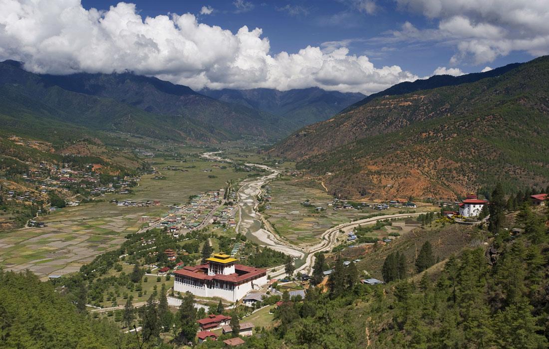 View from Zuri Dzong