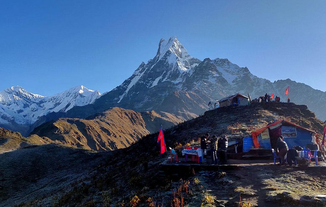 A short and sweet trek to Mardi Himal Base Camp with astounding Himalayan views