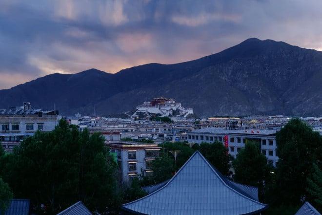 Lhasa city and Potala Palace
