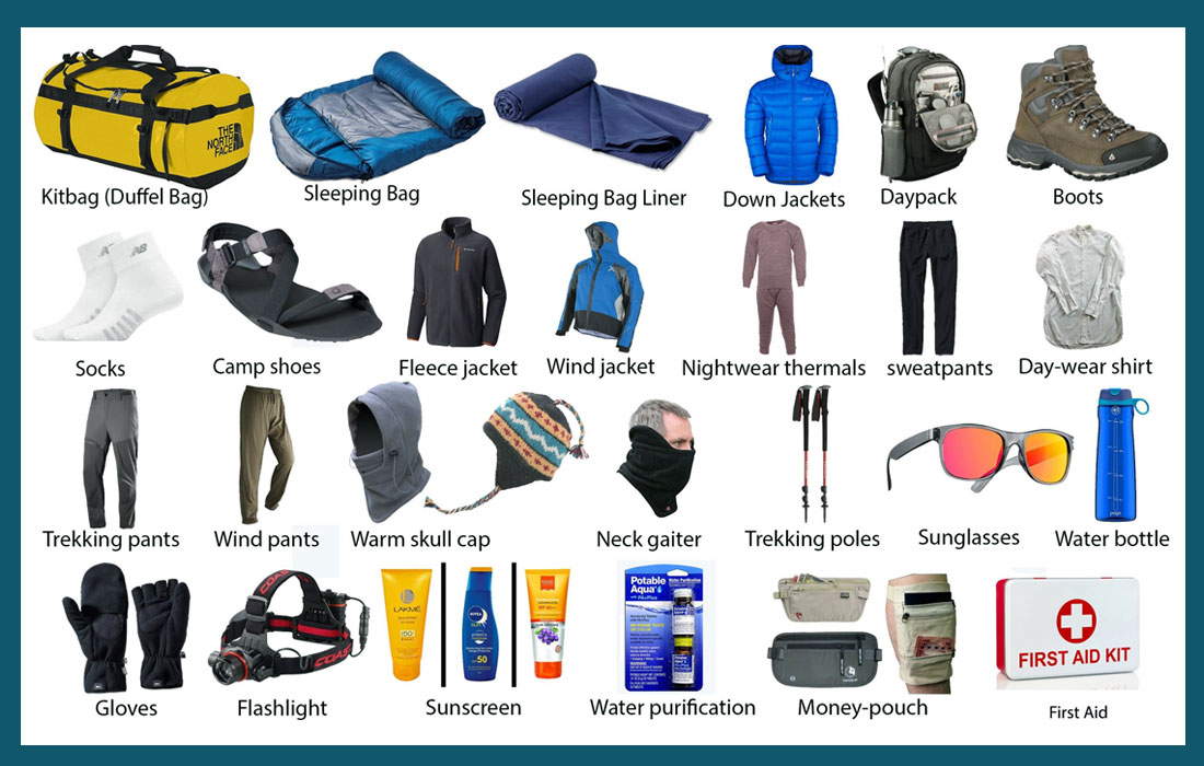 Langtang trek packing list